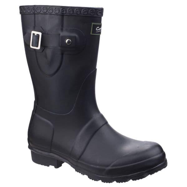 Cotswold Windsor Short Rubber Wellingtons Black